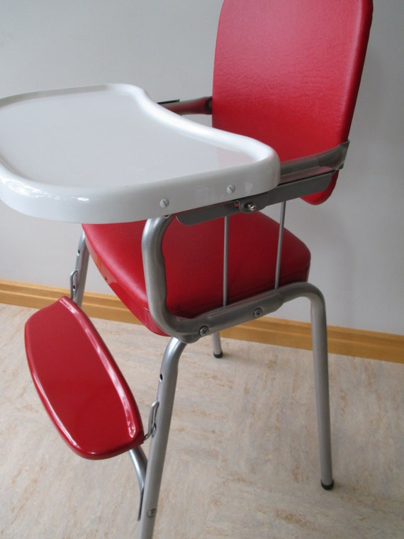 Vintage Cosco Restored Mid Century Steel Baby High Chair Youth