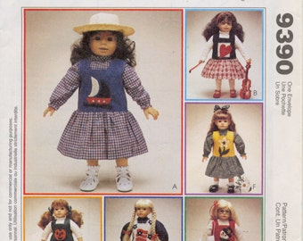 McCall's Crafts 9390 - Jumper, Blouse and Top for 18 inch Doll