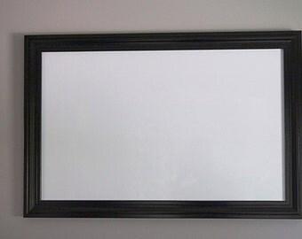 """37 1/2"""" x 25 1/2"""" Black Framed Magnetic Dry Erase Board"""