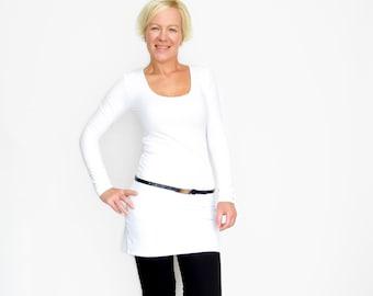 White Tunic Dress, Dress Shirt, White Tunic Top, Dress Top, Bodycon Dress, Long Tunic, Dress Top, White Extra Long Top
