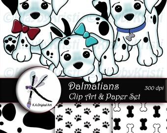 Dalmatian clipart | Etsy