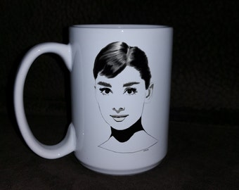 Beautiful Audrey Hepburn mug