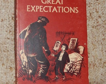 Vintage 1963 Copy of Great Expectations English Picture Reader