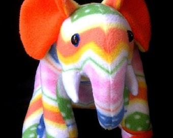 Elephant soft toy plushie polar fleece new handmade & OOAK