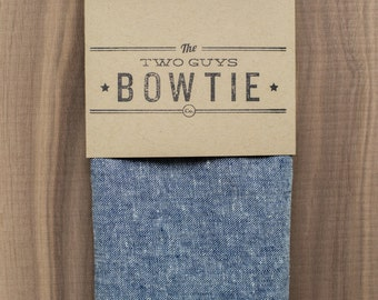 Blue Chambray Fabric Pocket Square