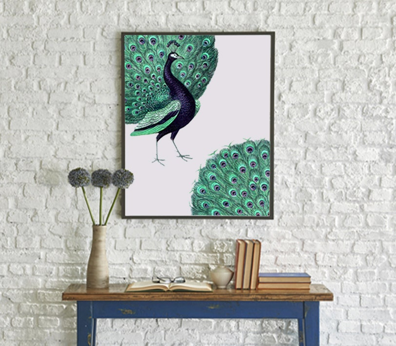 Peacock Print Stunning Home Decor Wall Art Print By PrintsOfHeart