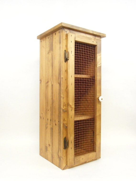 Pie Safe Rustic Cabinet Primitive Cabinet Handmade From