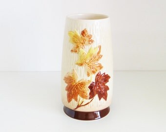 Vintage Pottery Vase Maple Leaf Vase By SylvaC Number 4011 Made in England Circa 1960s