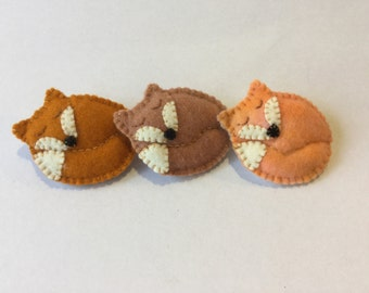 Felt Fox Brooch hand made Australian Waldorf inspired gift