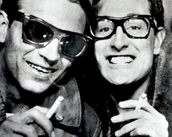 Buddy Holly & Waylon Jennings - Taken in a photo booth 1950s