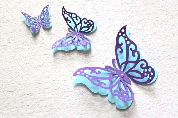 Etsy Butterfly Wall Decor : Items similar to butterfly wall decor paper art