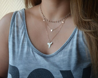 Real Shark Tooth Necklace, Great White Shark Tooth Necklace