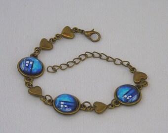 Doctor Who TARDIS heart bracelet