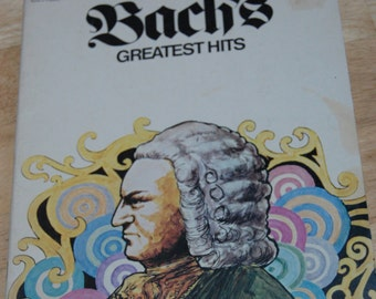 Bach's Greatest Hits Arranged for All Organ 1973 sheet music song book