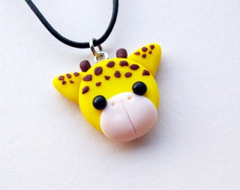 Giraffe Necklace - Handmade in Polymer Clay