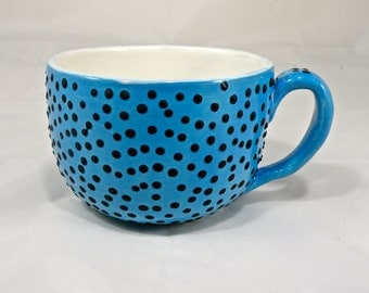 Extra Large Cup 24 oz Tea cup Cereal cup Cappuccino cup Soup Mug STONEWARE  Made to order