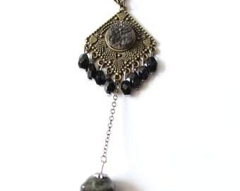 "Necklace ""BLACK TALISMAN"""