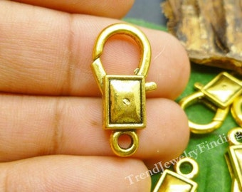BULK - 20 Antique Gold Lobsters Clasps - Large Clasps - 27mm - Jewelry Making Closures -C013