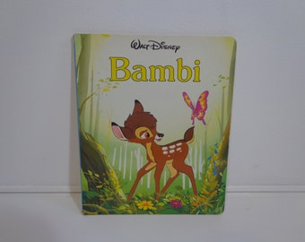 Vintage Walt Disney Illustrated Bambi Childrens' Board Book From 1987
