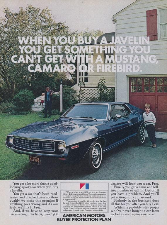 1972 amc javelin car ad vintage advertisement wall decor print for Great wall motors stock