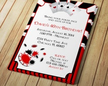 Male Poker Party Invitation - Editable Template - Microsoft Word Format
