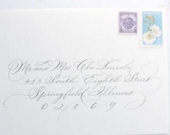 Spencerian II Custom Handwritten  Calligraphy Wedding Envelope Addressing