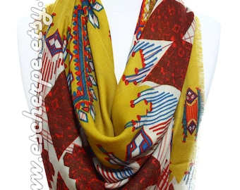 Tribal Scarf Geometric Scarf Gift Ideas For Her For Him Fashion Accessories Winter Accessories Women Fashion Scarves Christmas Gifts Wraps