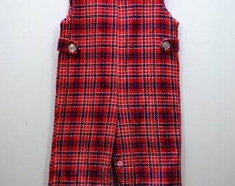 Red Corduroy 70s Overalls (24 Month/2T)
