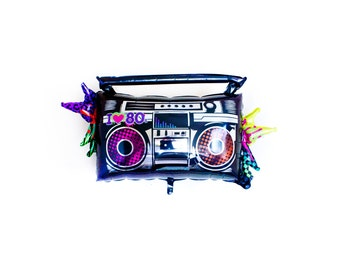 Boombox Balloon,  80s Themed Party, 80s Party - Boom Box (1 count) (FREE SHIPPING!)