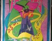 Fantasia - Original 1940 Family Movie Poster - Walt Disney - 1970 Psychedelic Reissue!