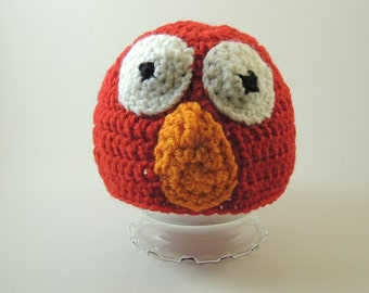 Sesame Street's Elmo Inspired Beanie – Seven Sizes - Made-to-Order