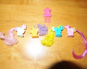 My Little Pony G1 Petite Ponies Hasbro with Comb Vintage Ponies Tiny Small Pony