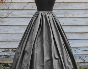 READY TO SHIP! Gray Long Skirt - Grey Civil War Reenactment - Renaissance Costume