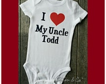 I Love My Uncle Baby Shirt, Uncle Gift, Baby Shower Gift from Uncle, Niece, Nephew, Baby Boy Clothes, Baby Girl Clothes, Todd, Liv & Co.™