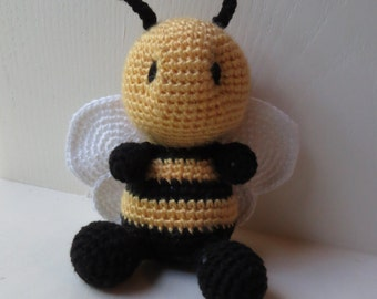 Bumble Bee Toy, Crochet Handmade Bee Toy, Arigurumi Bee, Crochet Bee, Bumble Bee Toy, Crochet Bumble Bee, Bee Stuffed Animal