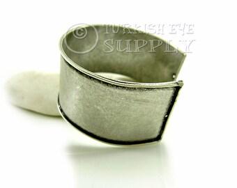 Brass Cuff Bracelet, Adjustable Antique Silver Plated Blank Cuff Bracelet, Turkish Bracelet Jewelry