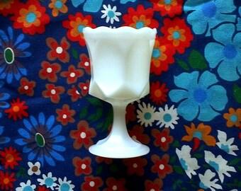 Vintage White Milk Glass Goblet