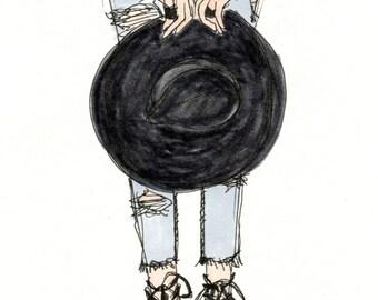 Street Style Fashion Illustration - Art Print