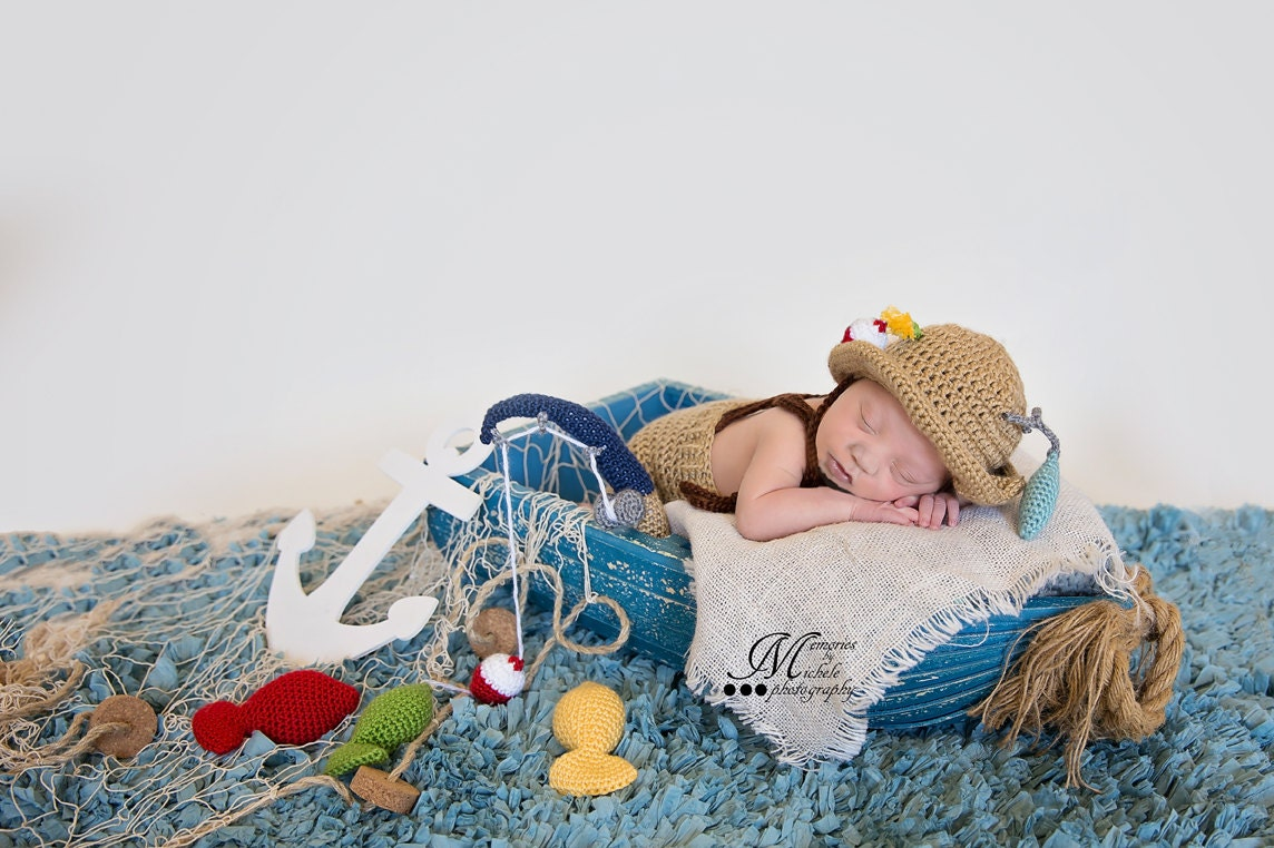 Crochet pattern crochet newborn fisherman hat and suspenders zoom bankloansurffo Image collections