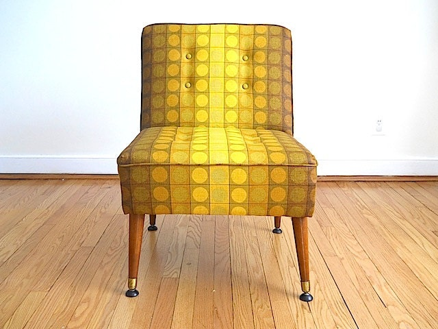Mid Century Modern Chair Living Room Chair Armless Chair