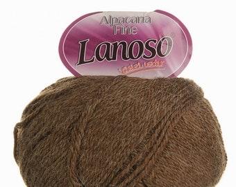 Warm yarn Lanoso Alpacana fine.