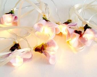 Cherry Blossom lights, mothers day, girls room decor, girl nursery decor, baby nursery decor, wedding lights decorations