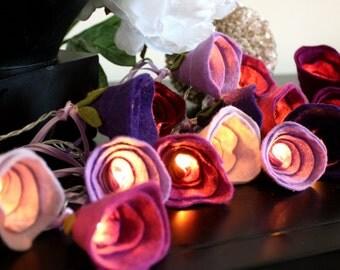 Mothers Day rose fairy lights, Highland Heather lights, girls room decor, wedding lights, romantic home decor, girls birthday gift