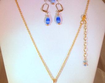 """3 Piece Jewelry Set """"The Blues """" (Item 4010)"""