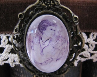 "Necklace cabochon ""The dream of the Princess"""