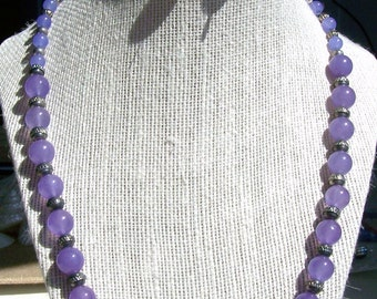 Light purple necklace and earring set