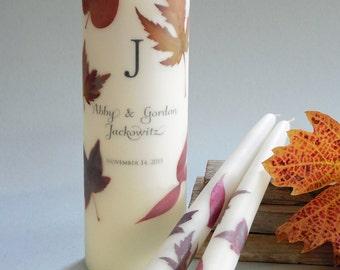 Autumn Leaf Wedding Unity Candles
