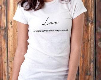Leo Zodiac Sign T-shirt for Women, Leo T-Shirt- Choose a Color