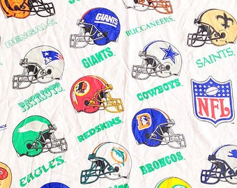 Vintage NFL Helmets Football Twin Flat Sheet