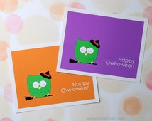 Halloween Card Pun For Friend Her Him Fun Funny Cute Owl Witch Happy Handmade Greeting Cards Sister Brother Niece Nephew Gifts Gift Ideas